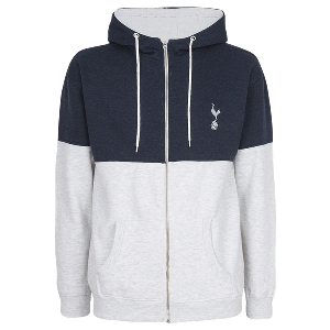 Spurs Colour Block Zip Through Hoodie