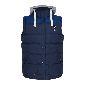 Spurs Mens Padded Hooded Gilet