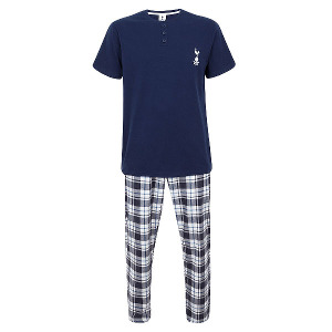 Spurs Mens Check Pants PJ Set