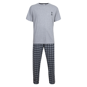 Spurs Mens Check PJ Set