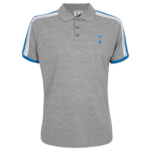 Spurs Mens Shoulder Stripe Polo