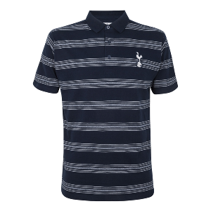 Spurs Mens Pattern Stripe Polo