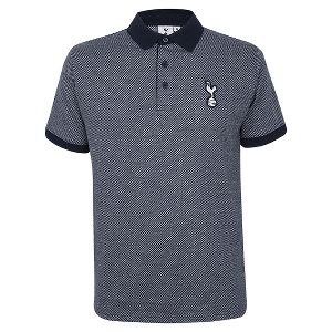 Spurs Mens Textured Polo