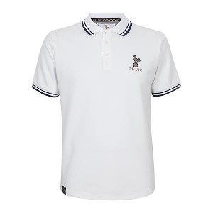 Spurs The Lane Mens White Classic Polo