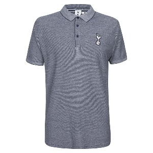 Spurs Mens Marled Contrast Collar Polo
