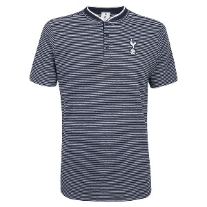 Spurs Mens Stripe Baseball Neck T-shirt