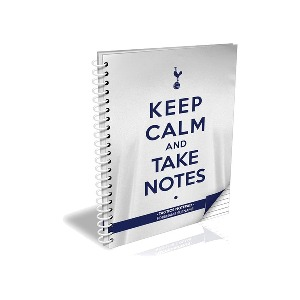 Spurs Personalised A4 Keep Calm Notebook