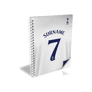 Spurs Personalised A5 Shirt Notebook